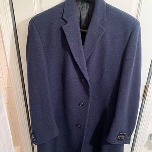 Brand New Joseph A Bank Navy Blue Top Coat